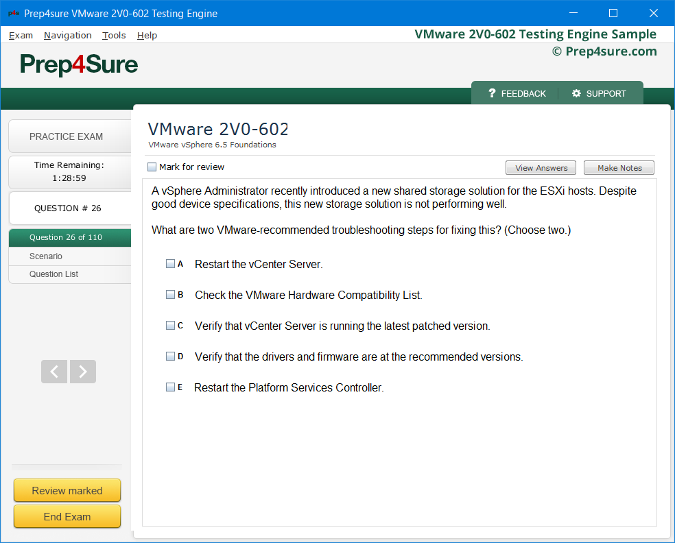Prep4sure VMware VCP6 5-DCV Certification Training - #1 VMware VCP6